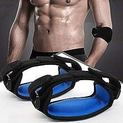 Hually Ellenbogenbandage, (2 Stück) Tennisarm Bandage, Leichter und Verstellbarer Schlaufenriemen am Ellbogenarm für Schmerzlinderung Beim Golfer und Tennisellenbogen und Unterstützung, Einheitsgröße