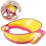 ONEDONE Verstellbarer Baby Kinder Shampoo Baden Dusche Displayschutzfolie Gap Hat Wash Haar Shield (Gelb)