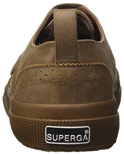 Superga 2332-fglcrackm, Pompes à plateforme plate homme Marron - Marrone (Full Moro)