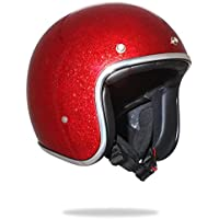 Stormer casco jet, color rojo purpurina
