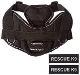 Dean & Tyler schwarz mit Reflektierendem Rand Fun Hundegeschirr mit Gepolsterter Brustgurt Stück, Rescue K9, klein, passend für Umfang Größe 22bis 27