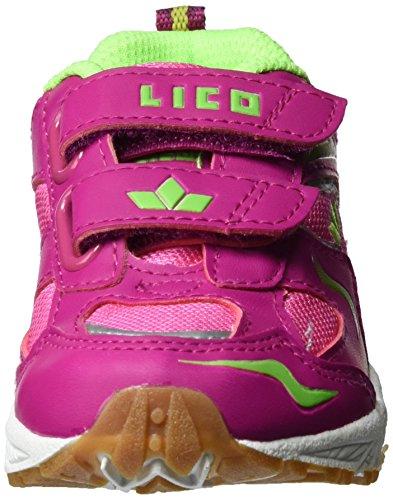 Lico Bob V, Chaussures de Fitness Fille Pink (PINK/LEMON)