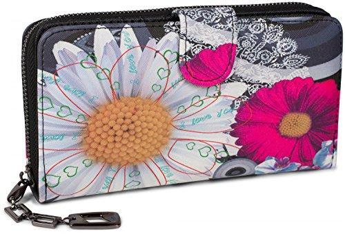 styleBREAKER Monedero con Motivo de Flores étnicas y floración, dise