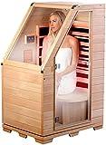 newgen medicals Sitzsauna für Zuhause: Kompakte Infrarot-Sitzsauna aus Hemlock-Holz, 760 W, 0,62 m² (Infrarotkabine)