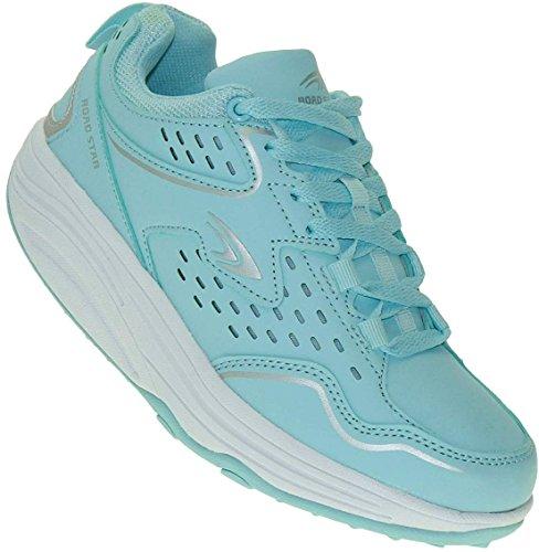 Bootsland Sexy Fitnessschuhe Gesundheitsschuhe Damen Sneaker 003, Schuhgröße:39, Farbe:Hellblau