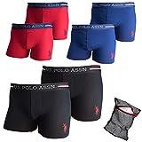 Ziatec U.S. Polo Assn. Boxershorts 2er-, 4er-, 6er-Pack Wäschenetz - Unterhose - Unterwäsche für Männer - Herren-Unterhosen, Farbe:2 x schwarz, Größe:XL