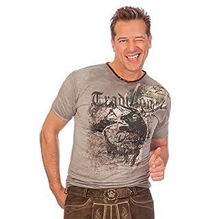 Trachten Herren Shirt - UTZ - braun, Größe S