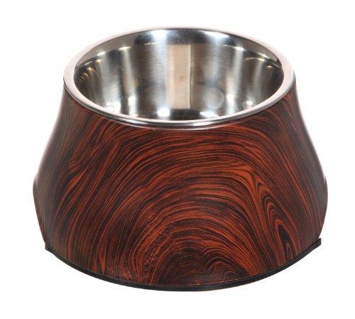 hundeinfo24.de Dogit Hundenapf aus Melamin in Holzoptik