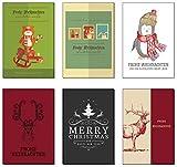 Weihnachtskarten Weihnachtspostkarten-Set (28 St.) Frohe Weihnachten Frohes neues Jahr
