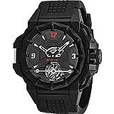 Snyper Mens 43mm Black Rubber Band Titanium Case Mechanical Watch 70.210.00