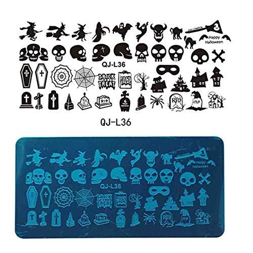 Timmershabi Weihnachten Halloween Nagelplatten Nail art Stempel Bild -