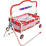 LookNSnap New Born Baby Cradle Cot Cum Stroller With Wheels - Red - J2