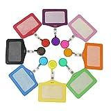 Retractable Badge ID-Kartenhalter - Qntry Name Business-Tag-Kredit-Halter mit Gürtelclip und PU-Leder für Büros Krankenhäuser Märkte