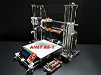 ANET A8-T 3D Printer Kit DIY LCD Display ABS PLA WOOD Nylon HIPS large Print Size 220*220*230mm Acrylic Frame
