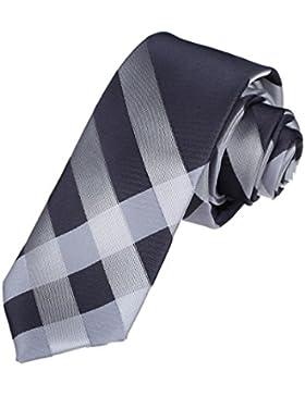 DAE7C07-09 hecho a mano de tela de microfibra de dise?o a cuadros flaco corbata Dan Smith