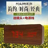 Y-Hui Der Stille Alarm Student Bett Nacht Photonics Uhr Holz Faulen Knochen Digitale Uhr Schlafzimmer Kinder- Tabelle, die Walnut-Colored Rot