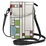 Frank Lloyd Wright Pattern s Crossbody Purse Cell Phone Purse Mini Shoulder Bag with Shoulder Strap...