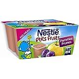 Nestlé p'tits fruits pomme prune 4x100g dès 6 mois - ( Prix Unitaire ) - Envoi Rapide Et Soignée