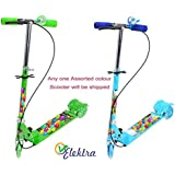 Elektra 3 Wheel Scooter/Cycle With Height Adjustable & Foldable Kids Scooter (Any 1 Scooter) (B&G)