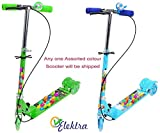 #3: Elektra 3 Wheel Scooter/Cycle with Height Adjustable & Foldable Kids Scooter (Any 1 Scooter) (B&G)