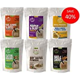 Early Foods - (6 Trial Pack Combo) Organic Porridge Mixes & Dry Dates Powder - 50g Each