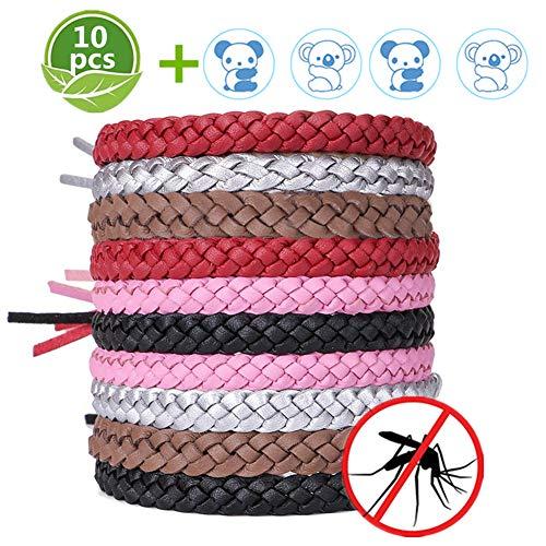 ACTOPP Mückenschutz Armband Moskito Armband 10 Stück Repellent Armbänder mit 12 Aufkleber Insektenschutz Naturals Mücken Armband Anti Mückenarmband Mücken Gürtel Schutz gegen Mücken Insekten