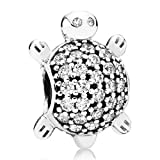 Schildkröte Charm Pandora Silber Zirkonia 791538CZ