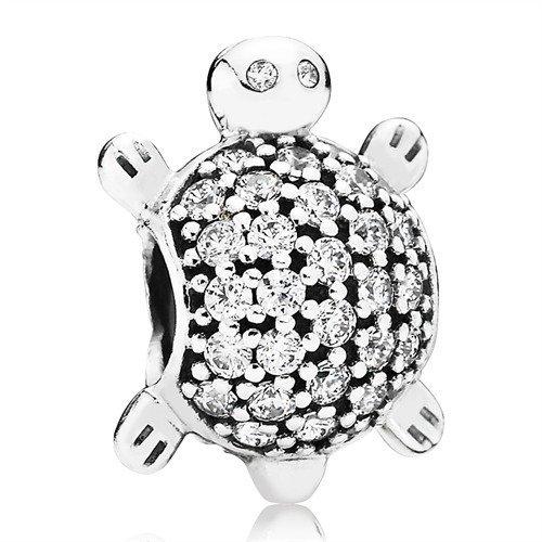 Schildkröte Charm Pandora Silber Zirkonia 791538CZ (Pandora Charm Zahl)