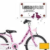 ilka parey wandtattoo-welt® Fahrradaufkleber Fahrradsticker Aufkleber Sticker Fahrraddeko Gänse Entchen mit Punkten M1889 - ausgewählte Farbe: *sonnengelb*