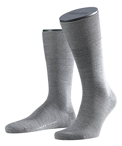 FALKE Herren Socken 14435 Airport Business SO, Grau (grey mel.), Gr. 41/42