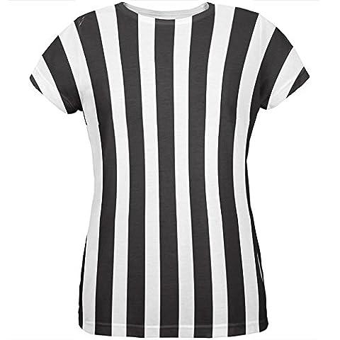 Halloween Kostüm aller Damen-T-Shirt Schiedsrichter Multi-2XL (Schiedsrichter T-shirts Kostüm)