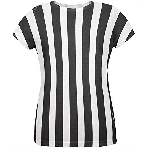 Halloween Kostüm aller Damen-T-Shirt Multi SM Schiedsrichter (Schiedsrichter T Shirts Kostüm)