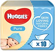 Huggies Pure, 560 Wet Wipes