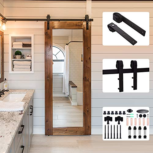 10FT/304cm Schiebe Tür-Hardware-Track-Kit Einzeltür Holztür - Sliding Barn Wood Door Hardware Track Kit For Single Door I Shape - Schiebe-tür Tür-hardware Und