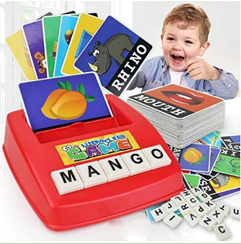 DUCKTOYS Englische Karte Brief Maschine, Kinder Pädagogische Früherziehung, Alphabetisierungs Platte, Lernen Sie Englische Wortspiel-Lehrmittel