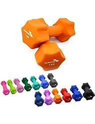 2er Set FOURSCOM® 2x 0,5-2x 10kg Neopren Hanteln Kurzhanteln Gymnastikhanteln, 13 verschiedene Gewichte und Farben zur Auswahl