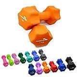 2er Set FOURSCOM® 2x 7kg Neopren Hanteln Kurzhanteln Gymnastikhanteln, 13 verschiedene Gewichte und Farben zur Auswahl