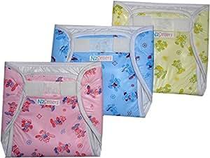 Bubbles Waterproof Nappy Protector - Set Of 3 (Children: S)