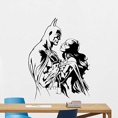 jiuyaomai & Catwoman Wandtattoo Vinyl Aufkleber Junge Raumdekoration Wohnzimmer Art Deco Abnehmbare Poster Wandbild 42x57 cm