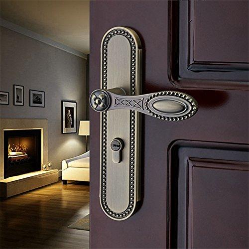GaoHX LOCK~ European-style Innentürschlösser Schlafzimmer Türschloss Holztürgriff