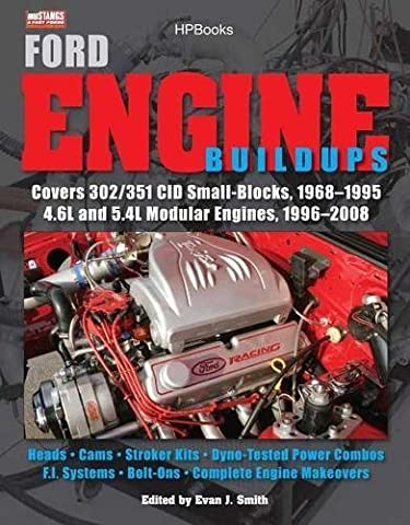 Ford Engine Buildups HP1531: Covers 302/351 CID Small-Blocks, 1968-1995 4.6L and 5.4L Modular Engines, 1996-2 008; Heads, Cams, Stroker Kits, Dyno-Tested Power Combos, F.I. Systems, Bolt-On