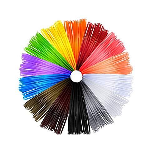 3D Pen Filament 1,75 millimetri ABS,14 pezzi PLA 3D ricariche penna per stampanti 3D e penne 3D,32 piedi lunghezze(5M)