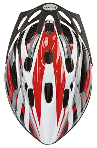 Ventura Kinderhelm, Rot/Schwarz/Weiß/Silber, 48-54 cm, 731030.0