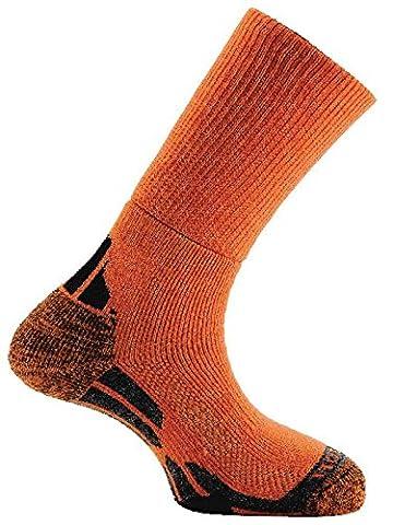 Horizon Merino Trekker Sock - Orange/Grey/Black, Size 91/2-12