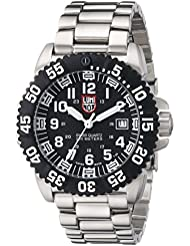 Luminox 3152 - Reloj de caballero de cuarzo, correa de caucho color plata