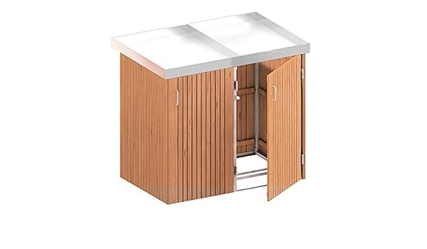 Tepro Holzkohlegrill Lamont : Binto mülltonnenbox hartholz müllbox system 17: amazon.de: baumarkt
