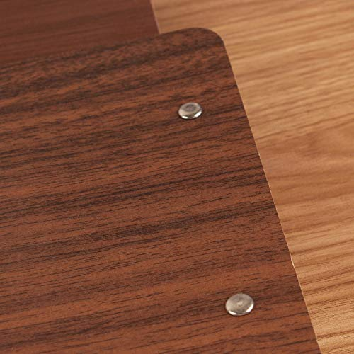 Pack of 10 A5 Wooden Clipboard Portable File Folders Low Profile Clip Book Folder Durable Solid Long-Lasting Clip Board
