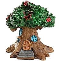 JwlqAy Exterior Interior Mini casa de Hadas en Miniatura Jardín en Miniatura Micro Landscape Ornament Craft Decor (Verde)