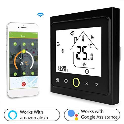 azurely WiFi Smart Thermostat, Wireless Remote Thermostat Smart Heizung Kühlung Temperaturregler Temperaturregler Für Wasser Elektrische Fußbodenheizung -