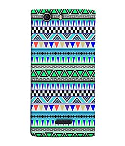 FUSON Designer Back Case Cover for Micromax Canvas Nitro 2 E311 (Tribal Patterns Colourful Eye Catching Verity Different )